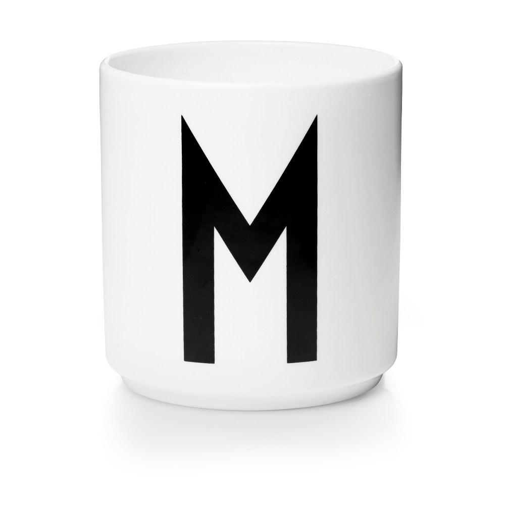 Design Letters 字母骨瓷杯白 M