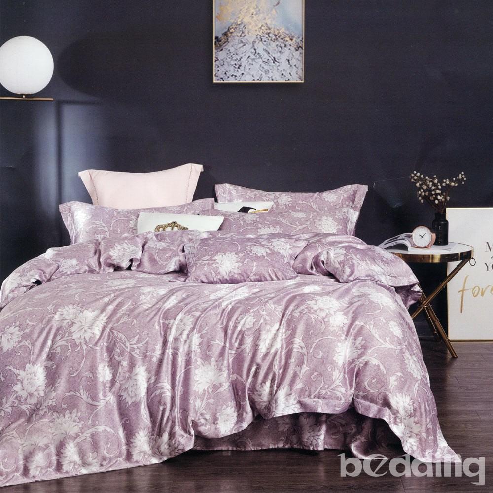 BEDDING-100%天絲三件式枕套床包組-蜜拉(加大)