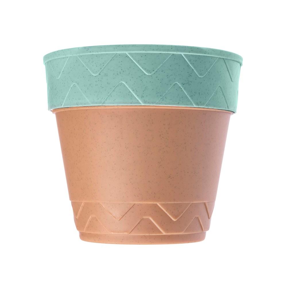 素陶盆套雙色4.5吋(綠)