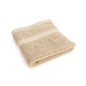 Lovel 嚴選六星級飯店素色純棉方巾(椰褐)