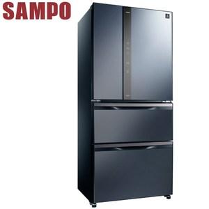 SAMPO聲寶 560公升變頻玻璃鏡面四門冰箱SR-NW56DD(B3尊爵藍)