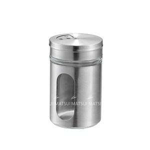 日本進口 不鏽鋼包覆玻璃調味罐80ML