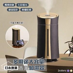 [特價]【次氯酸水適用】日本熱銷多用途大容量香薰加濕器科幻金