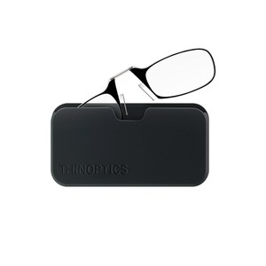 THINOPTICS 隨身輕薄老花眼鏡+攜帶鏡盒 (黑色200度)