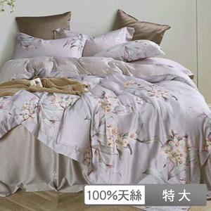 【貝兒居家寢飾生活館】裸睡系列60支天絲兩用被床包組(特大/子曲灰)