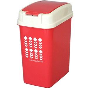 【this-this】按壓式垃圾桶18L -紅色