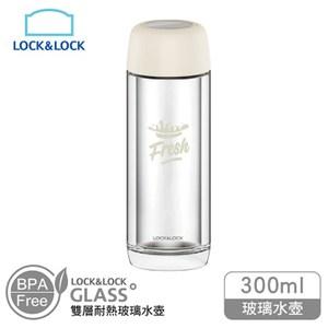 樂扣樂扣300ml雙層耐熱玻璃水壺-象牙白LLG628IVY象牙白