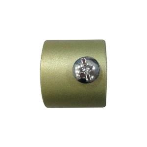多樣屋金屬伸縮窗簾桿飾頭-鐵管裝飾蓋2入 金色