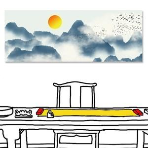 【24mama 掛畫】單聯式 油畫布 無框畫 80x30cm-崇山之巔
