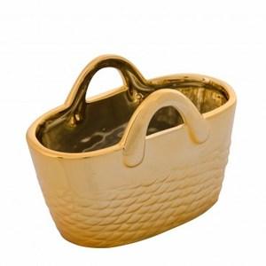 羅尼橢圓形提籃擺飾 金色