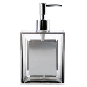 HOLA 現代方框乳液罐 水晶銀