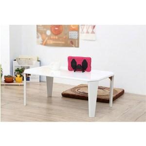 【班尼斯】Mirror戀愛魔鏡 鏡面烤漆折疊和室桌/小茶几-白色