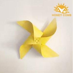 HONEY COMB 馬卡龍創意風車壁燈 百搭六色TA8443 黃色