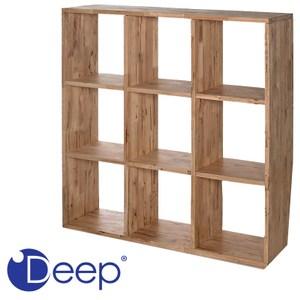 Deep 實心橡木3X3格置物櫃 110x30x110cm