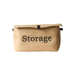 [特價]麻布附蓋收納袋-小