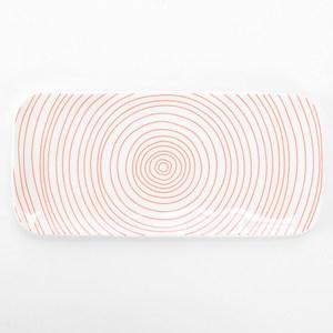 HOLA 荷莉長方盤 21.5cm 紅圓圈