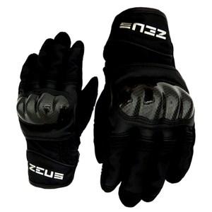 ZEUS 拳眼立體碳纖防摔手套L-黑色ZS-07