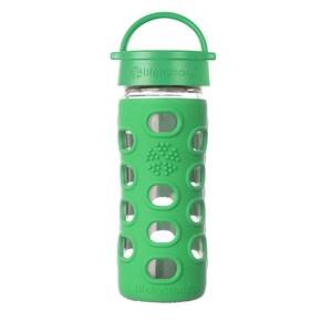 美國唯樂Lifefactory 彩色玻璃水瓶-平口350ml草綠LF280013