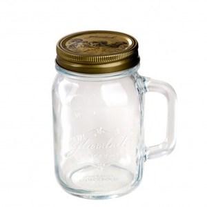 Glasslock附手柄玻璃密封罐500ml