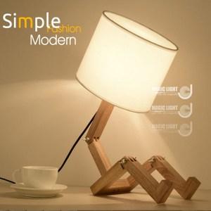 123木頭人桌燈