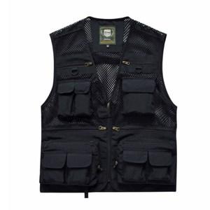 PUSH!戶外休閒用品多功能16口袋背心攝影釣魚背心F26黑色黑色2XL
