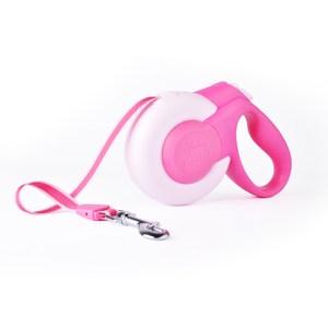 【FIDA】寵物伸縮牽繩 / 尺寸:S元氣粉