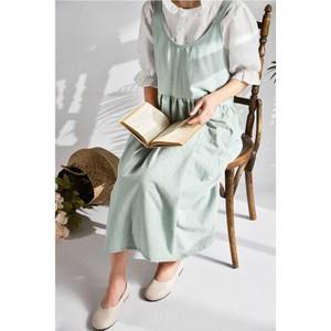 【三房兩廳】高腰居家工作服圍裙/花店/咖啡店/廚房圍裙(薄荷色)