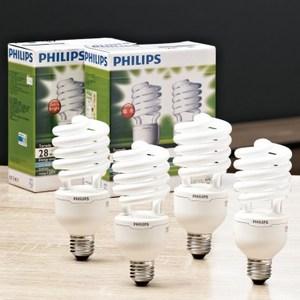 飛利浦 T3省電燈泡28W(黃光) 4入促銷包