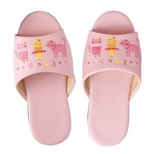 跳舞公主兒童皮拖鞋 粉色 M