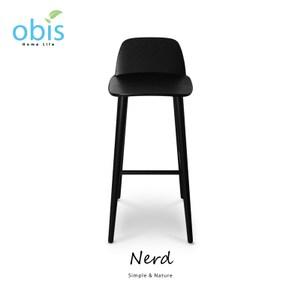 obis Nerd 書呆子復刻款北歐吧台椅-黑色