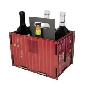 WERKHAUS 工業風貨櫃飲料置物箱 (共2色) 紅