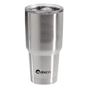 Mahobin魔法瓶 304不鏽鋼雙層真空加蓋啤酒杯/保溫杯/保冰杯800cc