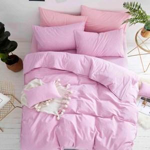 TRONlife好床生活 水洗純棉四件式兩用被床包組 焦糖布蕾雙人