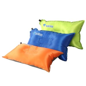 【PUSH!】戶外休閒用品自動充氣枕頭頭枕辦公室午憩枕頭P105寶藍