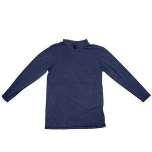 特力樂活咖啡紗保暖熱感衣 男版半高領長袖 深藍色 M-L