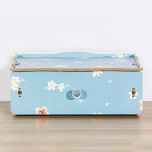 【佶之屋】木質DIY單層多功能抽屜小物收納盒藍花