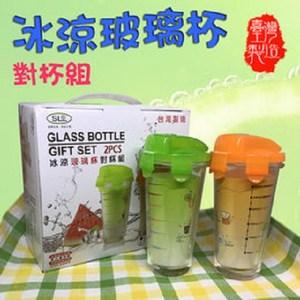 金德恩 台灣製造 上掀式密扣玻璃對杯禮盒 400ml