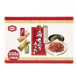 日本 龜田 海苔蝦米果 箱裝 232g
