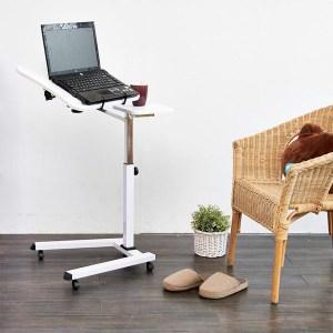 【H&R安室家】純白時尚筆電桌