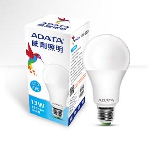 ADATA 威剛照明 13W大角度LED球泡燈-白光(6入)