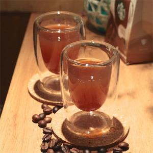 Artist精選 耐熱玻璃ESPRESSO雙層咖啡杯100ml 2入