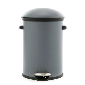 特力屋 洛克圓頂緩降垃圾桶 12L 灰色