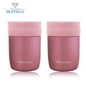 《兩入》【BUFFALO牛頭牌】400ml食物罐(粉) AF4A305