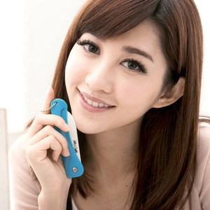 JoyLife 絢彩輕巧陶瓷摺疊刀水果刀-馬卡龍藍