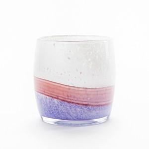 波林手工玻璃花器 漸層紫9cm