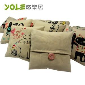 【YOLE 悠樂居】貓咪物語方型香炭包#1035061(2入)