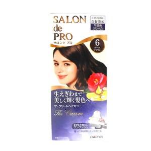 日本dariya沙龍級ONE PUSH白髮染髮乳(#6黑褐棕)*3