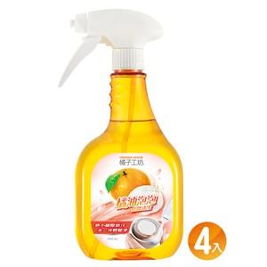 橘子工坊 橘油泡泡食器清潔550mlx4入