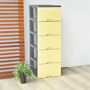 馬卡龍五層收納置物櫃-DIY-粉黃