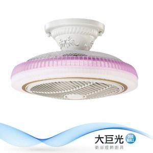 【大巨光】負離子風扇燈-附LED 36W 半吸頂燈(ME-0923)
